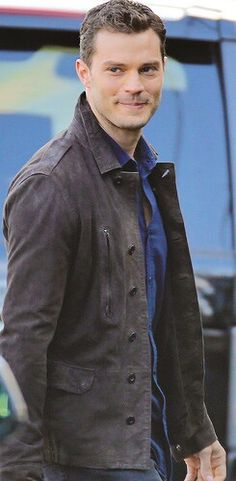 Jamie Dornan on set Fifty Shades Darker April 4 in Vancouver