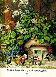 """""""Nicky and His Forest Friends"""" by Marilyn Nickson and illustrated by Fritz Baumgarten Forest Friends, Fantasy Art, Painting, Whimsical Art, Illustration Art, Art, Fairy Art, Childrens Art, Vintage Illustration"""