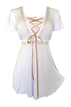 Dare To Wear Victorian Gothic Boho Women's Plus Size Angel Corset Top White - Apparel - Frequently updated comprehensive online shopping catalogs Curvy Fashion, Look Fashion, Womens Fashion, Plus Size Fashion For Women, Plus Size Women, Gothic Korsett, Alter Pullover, Modelos Plus Size, Mode Plus