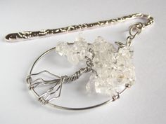 Bookmark Tree of Life   Clear Quartz Semi Precious Stone   FREE UK DELIVERY   Handmade by Phillipa Jane Designs   Gift for Keen Book Reader