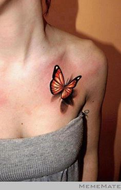 3D Butterfly Tattoo - MemeMate - Memes Funny Pictures & Funny Videos