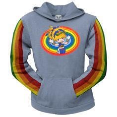 Mens Rainbow Brite and Starlite Memories Popular Sweater Hoodie Fitness Pullover