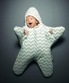 babybites スリーピングバッグ/寝袋 Baby Star Mint 新生児-7ヵ月(ベイビーバイツ) - 北欧のベビー服・こども服・輸入ベビーキッズウェア通販専門店【LoopFun Baby&Kids】