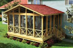 Love it! The perfect screened in porch... Perfect off our bedroom! Screened In Porch Plans, Screened Porch Designs, Front Porch, Front Windows, Porch Swing, Screen Porch Kits, Screen House, Screen Doors, Porch Addition