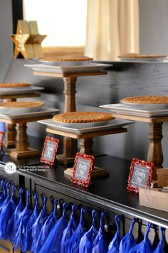 Pie Bar Party Cake Stands #micahelsmakers