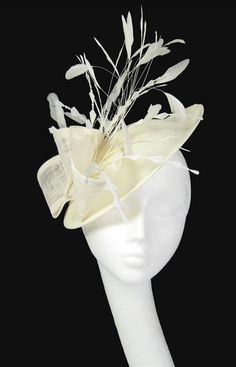 wedding guest Cream Fascinator c59465dbd562