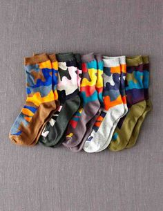@BodenClothing 5 Pack Socks Multi Camo