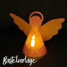 Tinker Christmas angels - origami paper with LED tealight - Weihnachtskrippe & Krippenfiguren basteln und plotten - Crafts Christmas Origami, Christmas Crafts, Christmas Decorations, Christmas Ornaments, Useful Origami, Origami Easy, Origami Videos, Christmas Mood, Christmas Angels