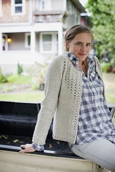 SULLIVAN  TEXTURED CARDIGAN    by Whitney Gegg-Harrison  Wool People