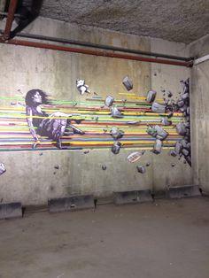 Vu à la Galerie Clemouchka : le street artiste Brusk > http://www.blog.stripart.com/art-urbain/brusk/