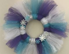 Items similar to Spring Tulle Wreath on Etsy Tulle Decorations, Tulle Wreath, Wreath Crafts, Cleaning, Wreaths, Homemade, Spring, Winter, Green