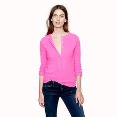 Collection cashmere waffle henley - j.crew cashmere - Women's sweaters - J.Crew