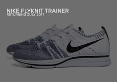 huge discount c2e54 b80e3 Nike Flyknit Trainer July 2017 Retro Colorways