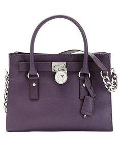 MICHAEL Michael Kors Handbag, Hamilton Saffiano Leather Satchel - Shop All - Handbags & Accessories - Macy's