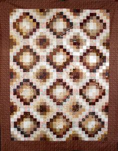 https://flic.kr/p/a16pC7 | T-Chocolate & Vanilla with Dots | One of the quilt tops made in June.  Pictures and comments are in the Piecing Set 1.