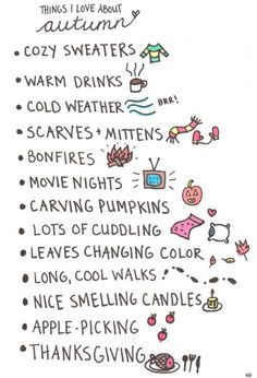 Things I Love about Autum