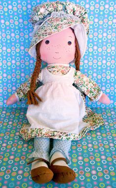 Vintage Retro Hollie Hobby Heather 16 Cloth Doll by modpets