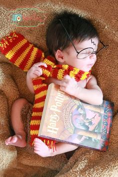Is this Harry Potter?Cause if its not then when this boy grows up,he is going to be a big fan of Harry Potter. Baby Harry Potter, Harry Potter Nursery, Harry Potter Baby Shower, Harry Potter Baby Costume, Cute Baby Pictures, Newborn Pictures, Cute Kids, Cute Babies, Newborn Bebe