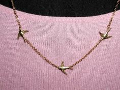 Three Little Birds Necklace by luvswoodencars2 on Etsy, $15.00