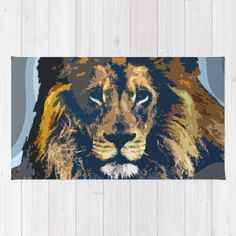 Buy Area & Throw Rugs with design featuring King by Animilustration and adorn your home with both style and comfort. Available in three sizes (2' x 3', 3' x 5', 4' x 6').