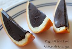 Vegan and Nut Free Home Made Chocolate Oranges (also Gluten Free and Soy Free)