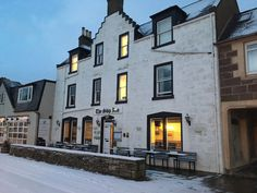 Snow comes to The Ship Inn in Stonehaven Christmas In Scotland, The Ship Inn, Snow, Mansions, House Styles, Manor Houses, Villas, Mansion, Palaces
