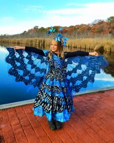 My Beautiful Little Butterfly! Blue Monarch Butterfly Costume from Chasing Fireflies https://instagram.com/p/9g_rY1Amke/