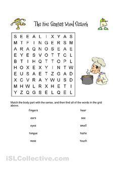 Our Five Senses Worksheets | Five Senses Wordsearch worksheet - Free ESL printable worksheets made ...