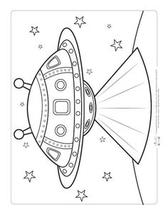 Ufo Coloring Pages Planet Coloring Pages, Space Coloring Pages, Fairy Coloring Pages, Coloring Pages For Boys, Animal Coloring Pages, Free Coloring Pages, Printable Coloring Pages, Coloring Sheets, Coloring Books