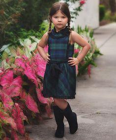 Look what I found on #zulily! Black Watch Tartan Dress - Toddler & Girls…