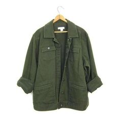 Vintage Army Green Jean Jacket 90s Dark Green Denim Grunge Jacket Over ❤ liked on Polyvore featuring outerwear, jackets, grunge denim jacket, olive jacket, green military jacket, baggy jean jacket and vintage jackets