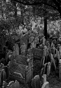 """""""Old Jewish Cemetery""""- Prague, Czech Republic.  Said to be the oldest cemetery in Europe."""