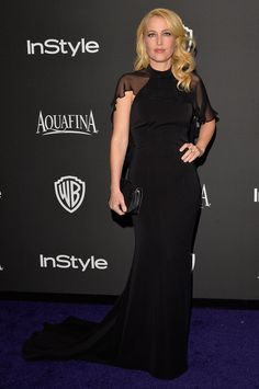 Pin for Later: Après les Golden Globes, L'After-Party! Gillian Anderson