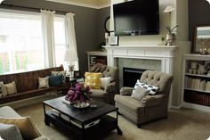 Love this living room. Pillows are my fav. part! #livingroom #pillow