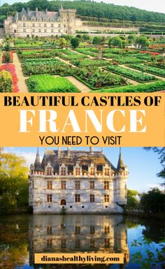 Heading on a French holiday? Make sure to visit some of the most romantic France Castles. These are some of the best Castles in France you need to visit. Chateaus in South of France. Medieval Castles in northern France.#france #europe #castles #travel