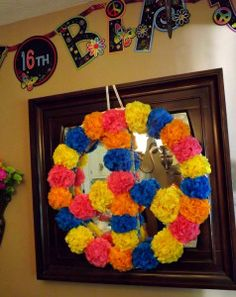"Learn how to make this ""Peace Sign"" out of tissue paper flowers in this video blog... http://www.nashvillewrapscommunity.com/blog/2011/09/how-to-make-tissue-paper-flowers/"
