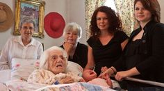 Six Generations of Daughters - From Baby to 111-Year-Old Great, Great, Great Grandmother