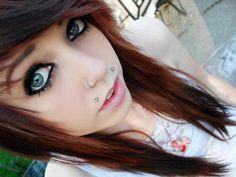 Scene hair i wanna dye my hair like thisss