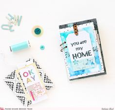 """Steffi Ried - Minialbum """"You Are My Home"""" with the beautiful collection """"Oh My Heart"""" by Paige Evans / Pink Paislee"""
