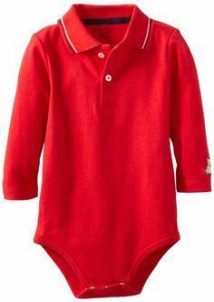 Hartstrings Baby-boys Infant Long Sleeve Polo Bodysuit