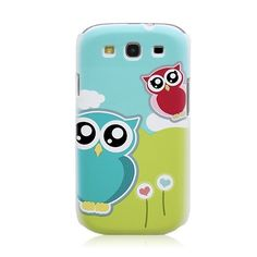 Owl Pattern Back Case Cover for Samsung GALAXY S III i9300