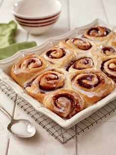 These delicious homemade cinnamon buns are stuffed with plenty of cinnamon and brown sugar.