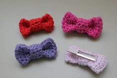 RisC Handmade: Crochet Bow Hair Clip Pattern. FP 2/15