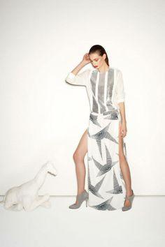 Slice & dice. #monochrome #sassandbide #pattern #split #fashion