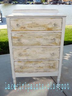 Lake Girl Paints: Sand and Shells Dresser