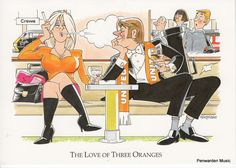 Joan Butler Classics Greeting Card - The Love of Three Oranges Butler, Third, Musicals, Greeting Cards, Hilarious, Love, Classic, Anime, Amor