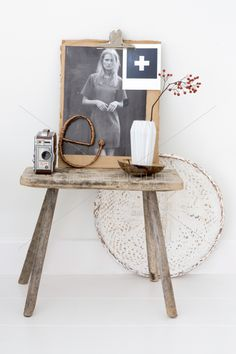 Vergelijkbare stoere krukjes van oud hout te koop bij www.old-basics.nl (webshop &grote loods vol brocante vintage en shabby chic)