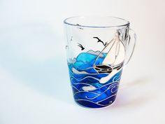 Осеаn Coffee Mug Beach gift Coastal Decor by Vitraaze on Etsy