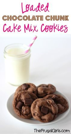 Loaded Chocolate Chunk Cake Mix Cookies Recipe! ~ from TheFrugalGirls.com ~ this easy 4-ingredient cookie is the choc-o-holic's dream! #cakemix #recipes #thefrugalgirls