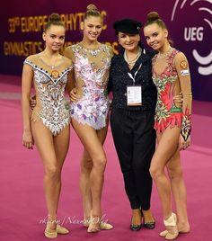 Russian team @ Budapest-Hungary 19-21/05/2017  Dina AVERINA, Alexandra SOLDATOVA, Irina Vinner (Head coach) & Arina AVERINA